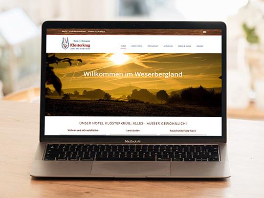 Hotel Klosterkrug Webseite