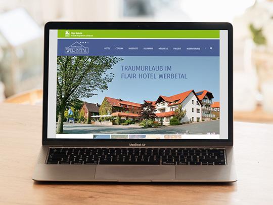 Hotel Werbetal Webseite